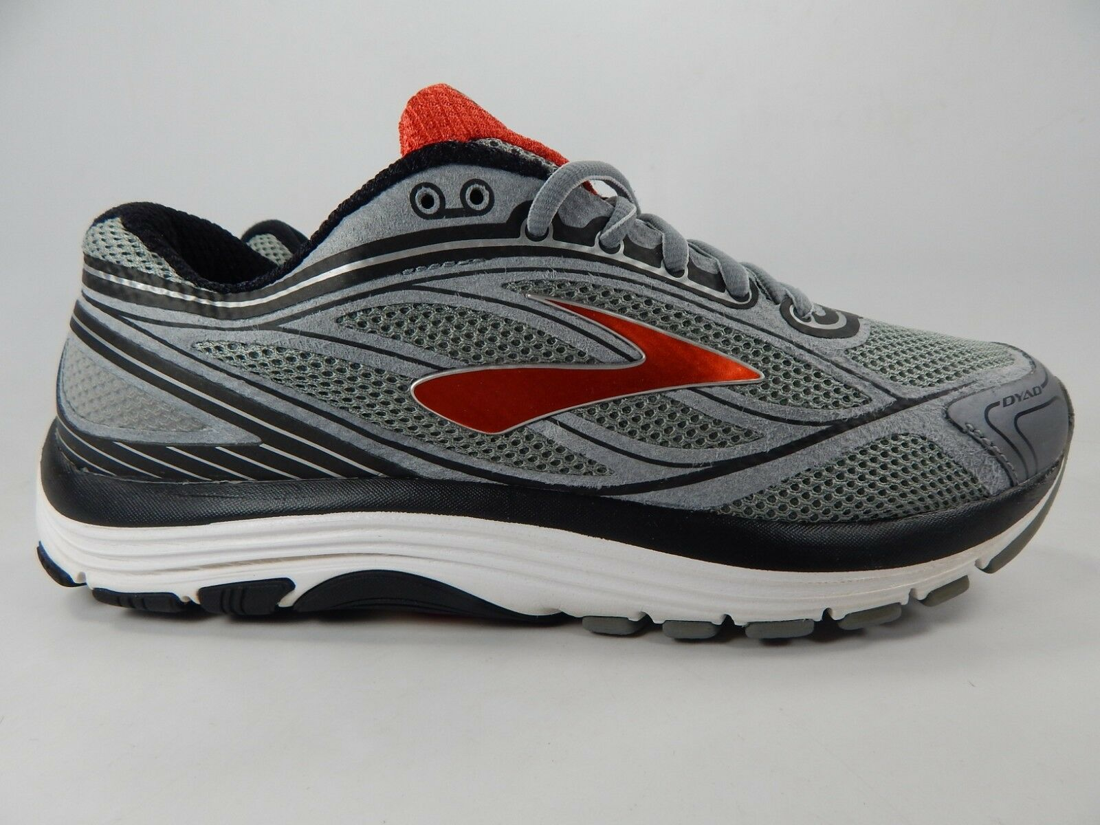 Brooks Dyad 9 tamaño nos 9.5 m (D) Para hombres Zapatos para Correr gris Rojo 1102311D035