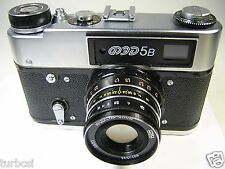 "FOTOAPPARAT CAMERA FED 5B LEICA COPY AS NEW ""MINT"" LENS INDUSTAR 2,8/55 M39"
