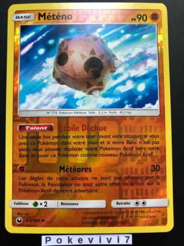 Carte Pokemon METENO 83//168 REVERSE Soleil et Lune 7 SL7 FR NEUF