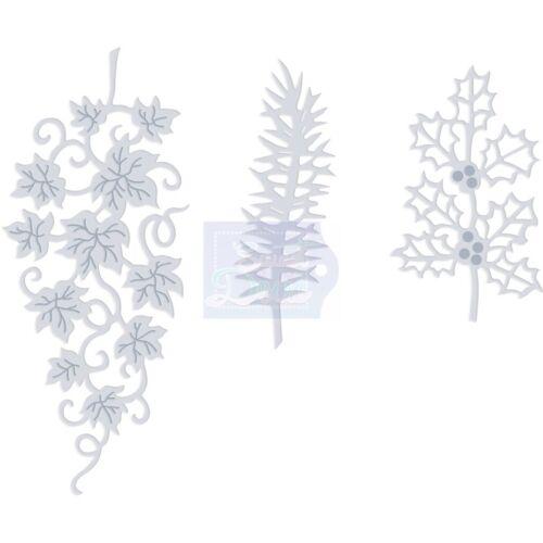 Sue Dix SWEET DIXIE Dies CHRISTMAS FOLIAGE Cut Emboss Stencil SDD321 3 Dies