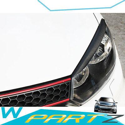 Carbon Fiber Head Light Lid Trim for VW GOLF Mk6 6 VI GTI R Line 10 - 12 vw87