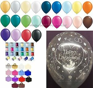 Happy-Engagement-Helium-Balloons-Ribbon-Weights-10-Table-Party-Decoration-Kit