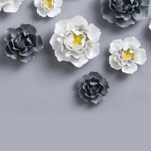 1pc Lotus Peony Handmade Wall Decor Ceramic Flower for Decor 3D Wall Hanging Art