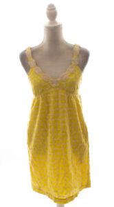 Tibi-Yellow-Sleeveless-Eyelet-Sun-Dress-Size-4
