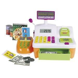 CHIP N PIN TILL CASDON (612) KIDS PLAY FUN INCLUDES CREDIT CARDS, FOOD BOXES NEW