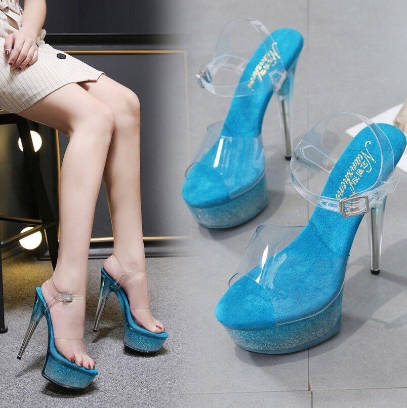 Women's Nightclub Platform 5.8'' High Heels Peep Toe Slingbacks Slingbacks Slingbacks Pumps Sexy shoes 6cb4f5