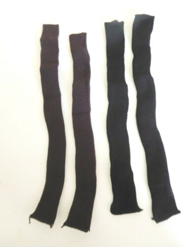 """Old Store Stock 2 Pair 10/"""" Long Brown /& Black Knit Socks Stockings 4 Large Doll"""
