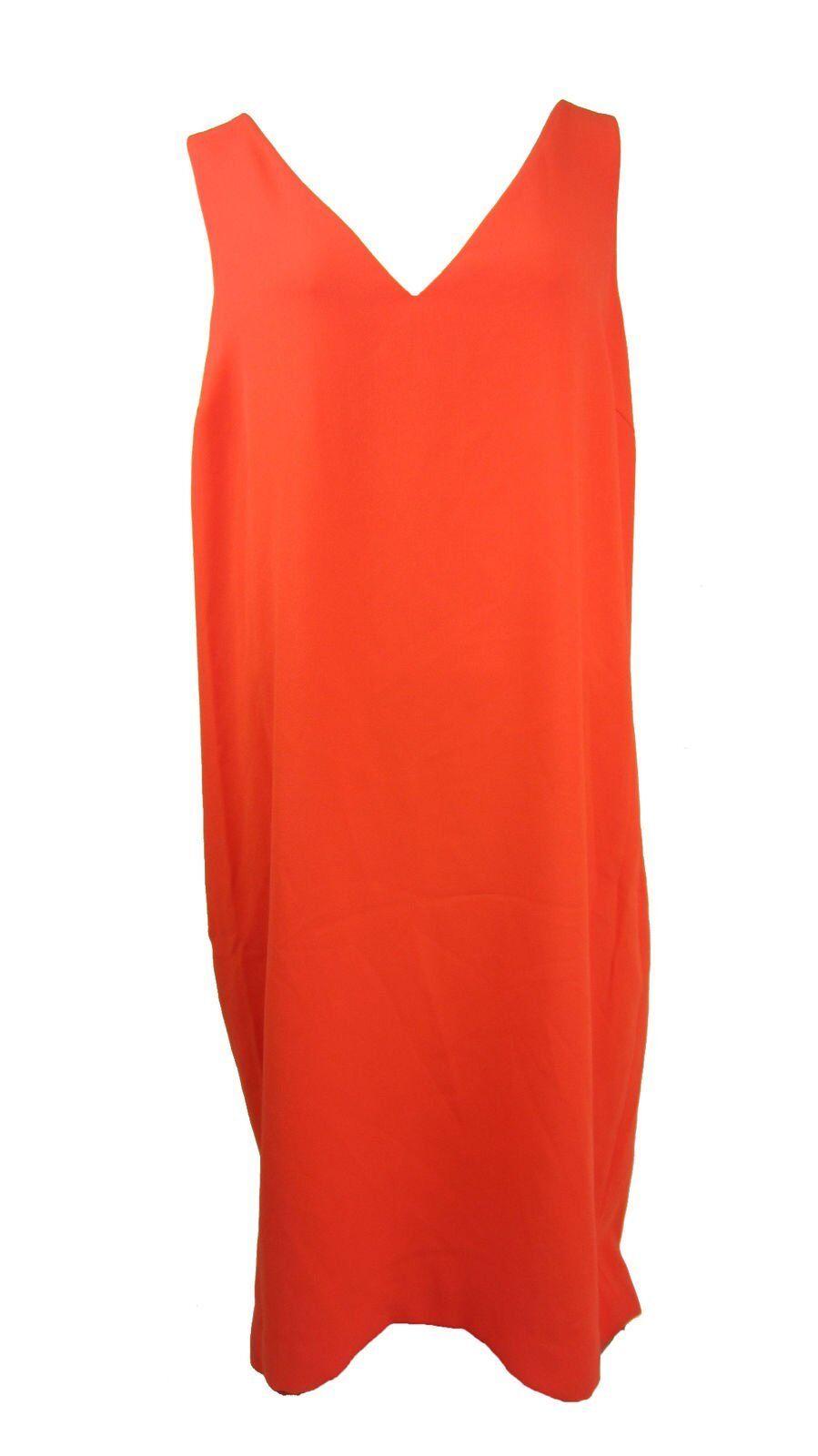 Ralph Lauren Crepe Sleeveless Shift Dress Vienna orange Size 16