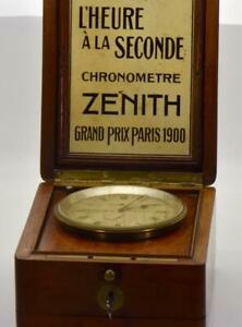 RARE-Zenith-Observatory-Marine-CHRONOMETER-POWER-RESERVE-Navy-Captain-Deck-clock