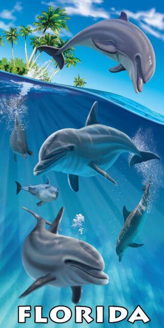 "Key West Towel Florida Beach Pool Souvenir Mile Marker 0 Collage 30/""x60/"""