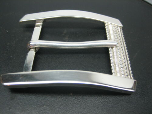 Sterling silver 925 buckle with Genuine Ostrich 30 mm belt by SHANTPETER U.S.A.