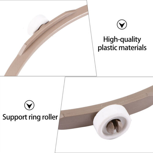 2pcs Microwave Plastic Turntable Plate Support Wheel Ring Turntable Holder