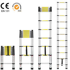 10.5ft Heavy Duty Aluminum Ladder Multi Purpose Telescoping Extension Ladder