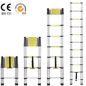 Multi Purpose Telescoping Extension Ladder Heavy Duty Giant Aluminum, 10.5 Feet