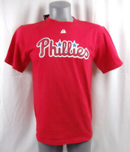 Philadelphia-Phillies-Baseball-J-Papelbon-Red-T-Shirt-MLB-YOUTH-SIZE-XL