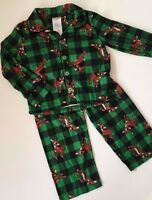 Rudolph Red Nosed Reindeer Flannel Pajamas Toddler Boys Size 2t 3t 4t Pjs