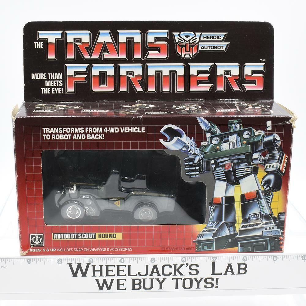 Hound MIB 100% Complete E 1985 Vintage Hasbro Action Figure G1 Transformers