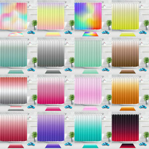 Image Is Loading Blurred Colour Changing Shower Curtain Set 71 79