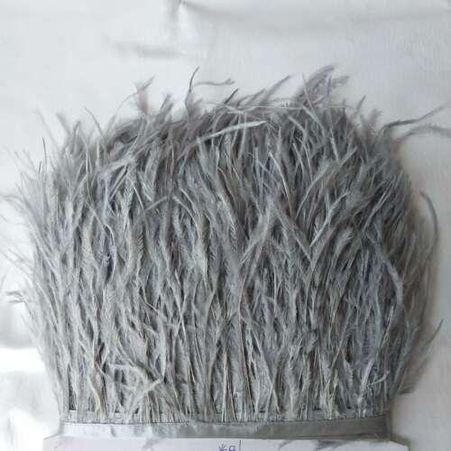 Frangia con Nastro,lunghezza 11-15 cm 2mt Piume di struzzo
