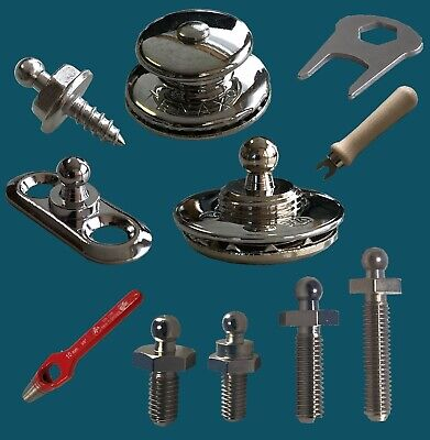 Schlüssel 20 x Tenax Oberteile in Ms TO- 02C Verchromt  Art.-Nr