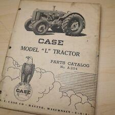 Case L Series Tractor Parts Manual Book Catalog List Spare Farm Vintage A254