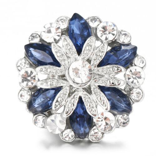 10pcs Crystal Alloy Charm Ginger Snap Button For Noosa Necklace//Bracelet N866