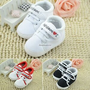 Girl Boy Baby Toddler infant Soft Sole Crib Shoes sneaker