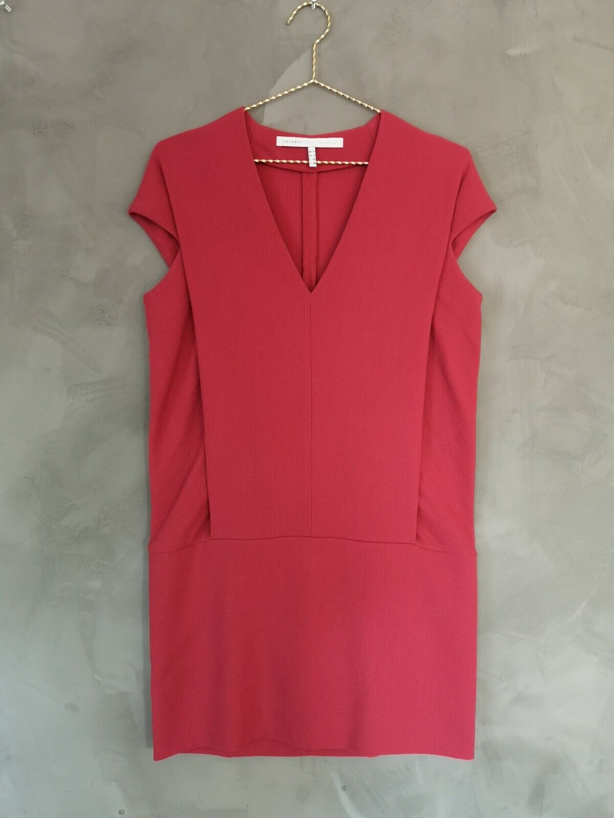 Victoria Beckham Dark rot Wool Crepe Crepe Crepe Shift Dress DE 34 UK 6 e9e