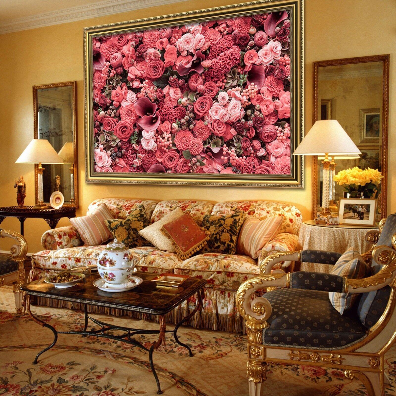 3D Flower Sea 60 Framed Poster Home Decor Print Painting Art AJ WALLPAPER