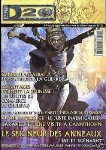 D20  MAGAZINE N°10 JDR DD3 SEIGNEUR DES ANNEAUX