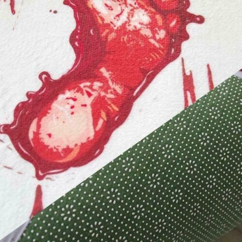 Blood Bath Mat Footprints Rugs Towel Bath Floor Mat Horror Bloody New J2A0