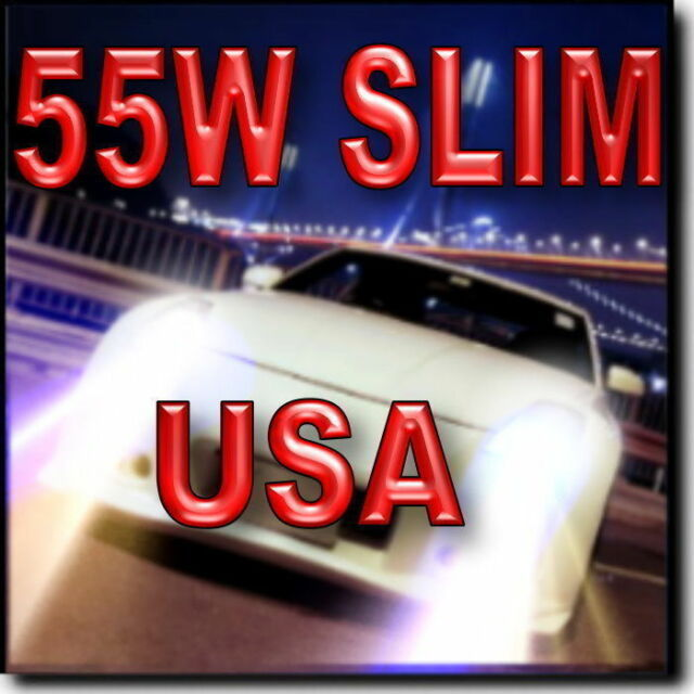 55W SLIM H11 Xenon HID Headlamp Kit Low Beam 4300K 6000K 8000K 10000K #