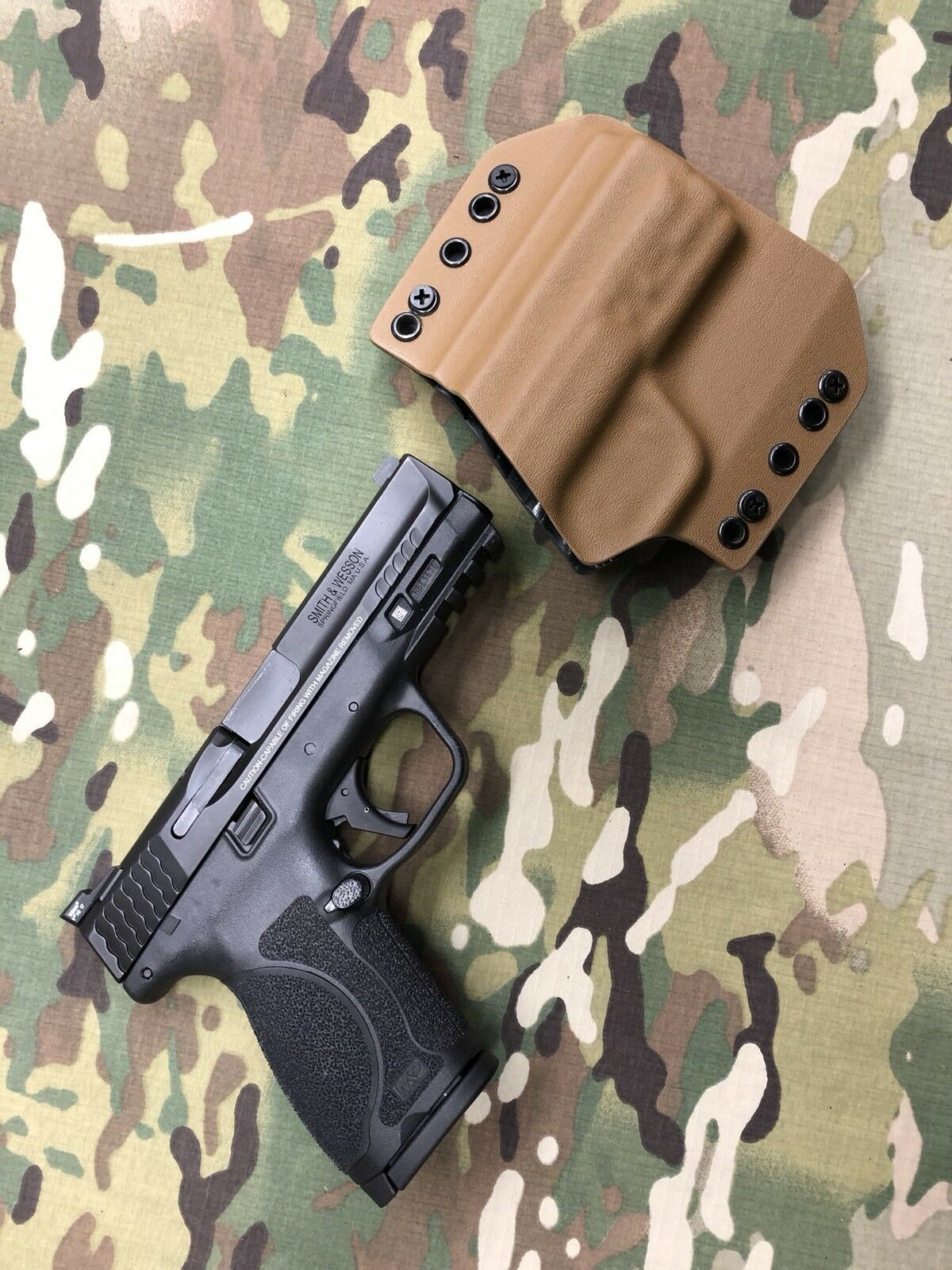 Coyote Tan Kydex Holster for M&P 2.0c 2.0c M&P Compact e2cbcf