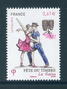 TIMBRE-4904-NEUF-XX-LUXE-FETE-DU-TIMBRE-DANSEURS-DE-SALSA