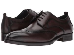 d1f2124003b Details about NIB Steve Madden Men's Candyd Leather Lace Up Wingtip Dress  Shoes in Brown