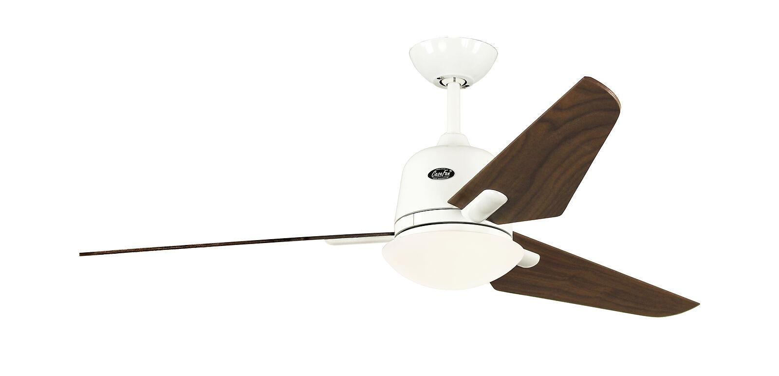 Ceiling fan CasaFan ECO AVIATOS 132cm White / Walnut 513249