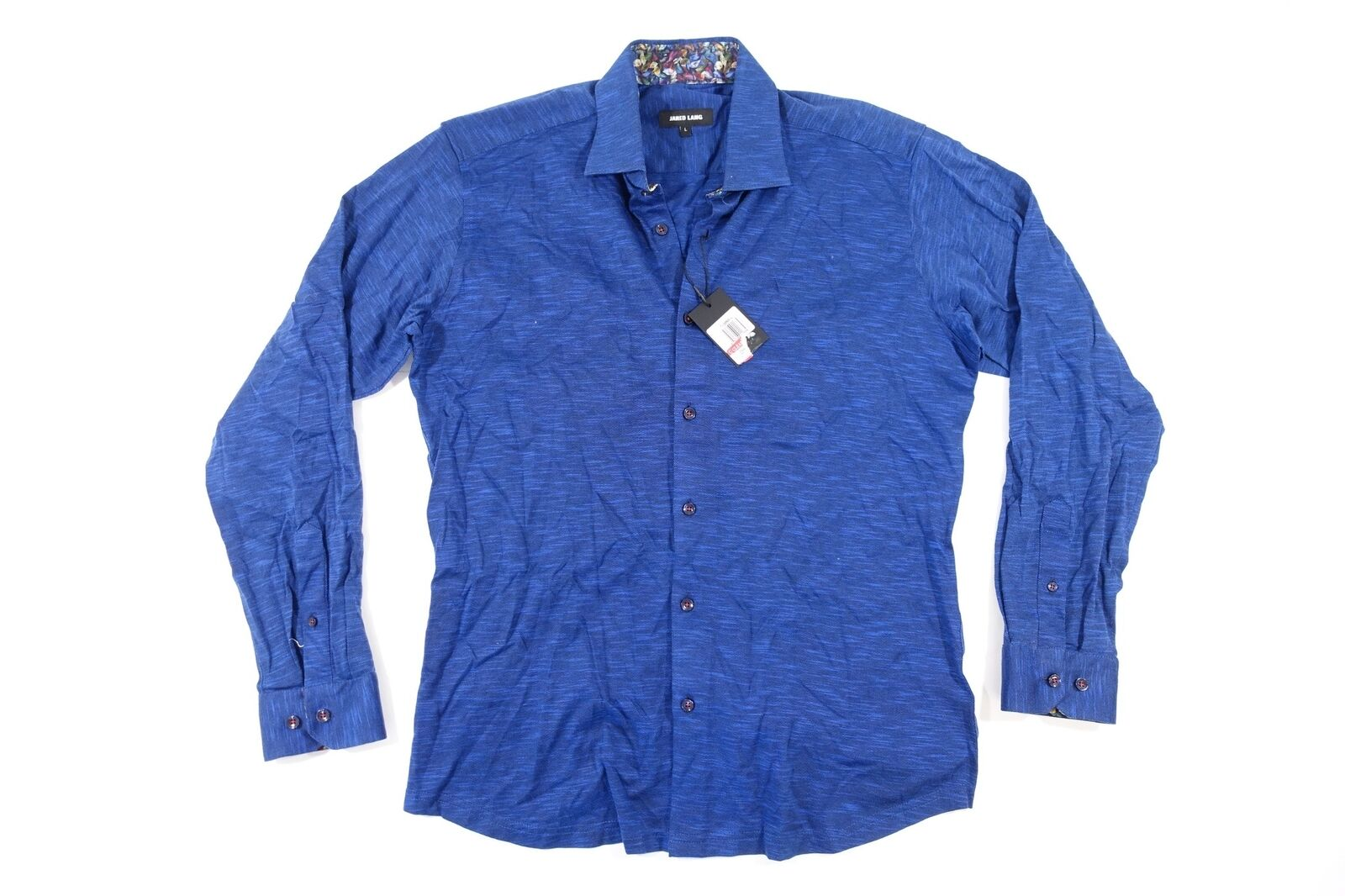 JARED LANG blueE LARGE SOFT WOVEN BUTTON FRONT SHIRT MENS NWT NEW