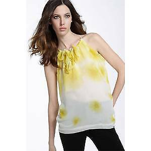 Robert Rodriguez Robbi & Nikki ombre flower top shirt  Größe XS NWOT Gelb