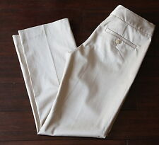 Theory Khaki Slacks Trousers Cotton Stretch Work Career Pants Size 00 Xs