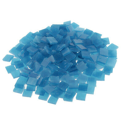 250x Vitreous Glass Mosaic Tiles for Arts DIY Crafts Lake blue