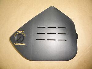 details about 92 93 c4 corvette dash trim fuse box panel side cover w screw 03460 C3 Corvette Fuse Box Diagram