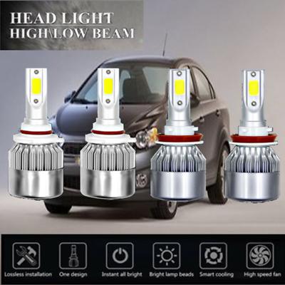 9006 LED Headlight Bulbs 36w 6000K Bright White Low Beam for CHEVROLET C1500