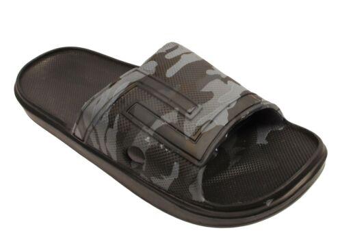 Mens Camouflage Slippers Flip Flops Sliders Slip On Slides Sandals 6 7 8 9 10 11