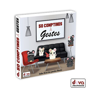 50-Comptines-a-gestes-Album-2CD-Livret-illustre