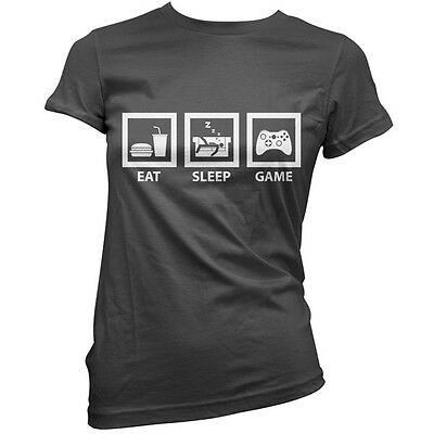 Eat Sleep Game (Gamer) Womens / Ladies T-Shirt / gaming / 11 Colours - S-XXL