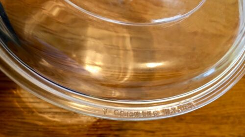 """Pyrex Clear Glass Oval Lid DC 1 1//2 C 8 1//2"""" X 11""""//  Corning Ware Round 7 1//2"""""""