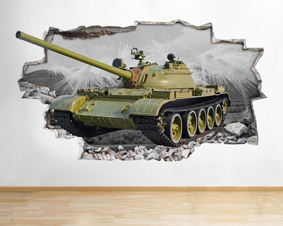 Z065 Army Tank Jungen Bett COCool Poster Viny Wandaufkleber Wandsticker 3D