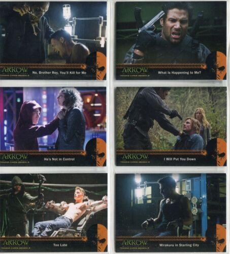 Arrow Season 2 Complete Mirakuru Chase Card Set U1-6