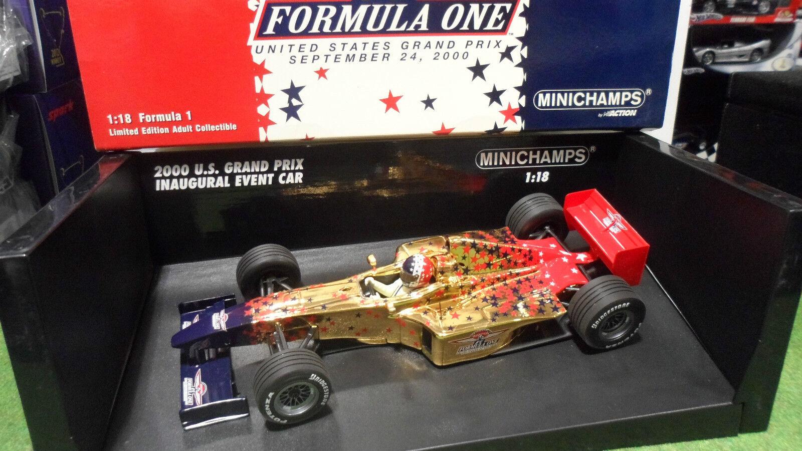 F1 FORMULA 1 INDIANAPOLIS US GRAND PRIX EVENT CAR INAUGURAL au 1 18 Minichamps