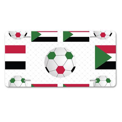 Congo Kinshasa Country Flag Soccer Car Aluminum License Plate